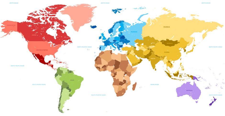 карта аллергии во всём мире